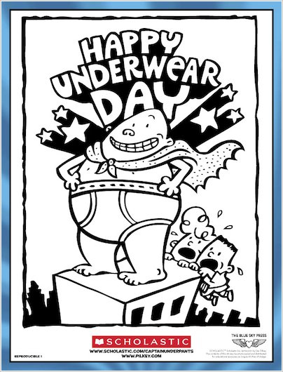 Captain Underpants Colouring