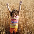 Girl in the corn field