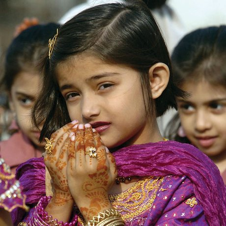 Young girl celebrating Ramadan