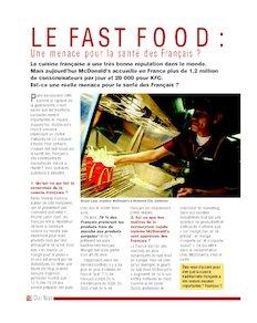Le fast food : une menace pour la santé des Français ?