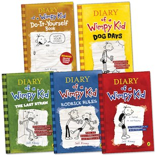 Diary of a Wimpy Kid Pack x 5