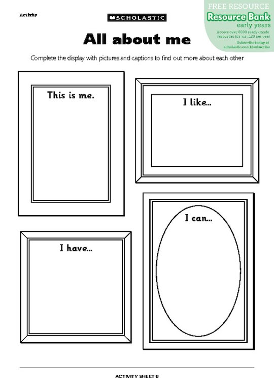 All about me frames