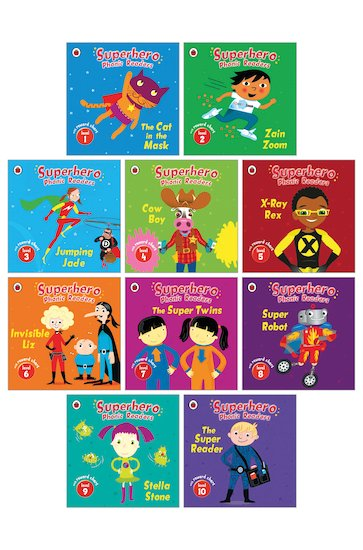 Superhero Phonic Readers Pack x 10