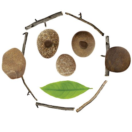 Face made from natural items