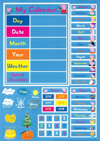 Peppa Pig: My Calendar Magnets