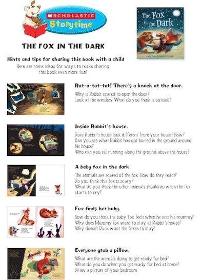 The Fox in the Dark Storytime Notes
