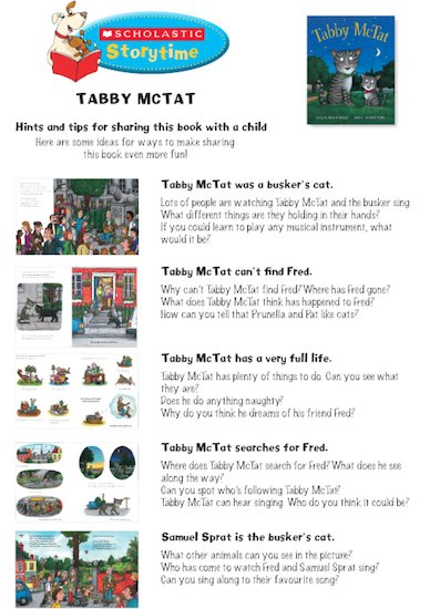 Tabby McTat Storytime Notes