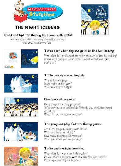 The Night Iceberg Storytime Notes