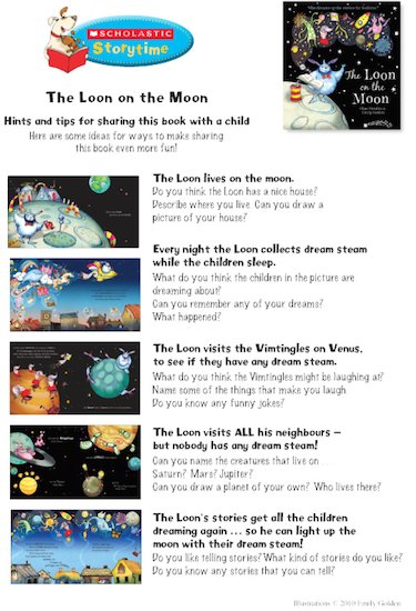 Loon on the Moon Storytime Notes