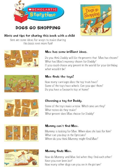 Dogs Go Shopping Storytime Notes