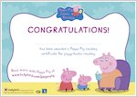 Peppa Pig Reading Certificate