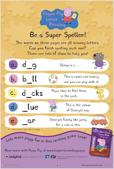 Peppa Pig Super Speller Quiz