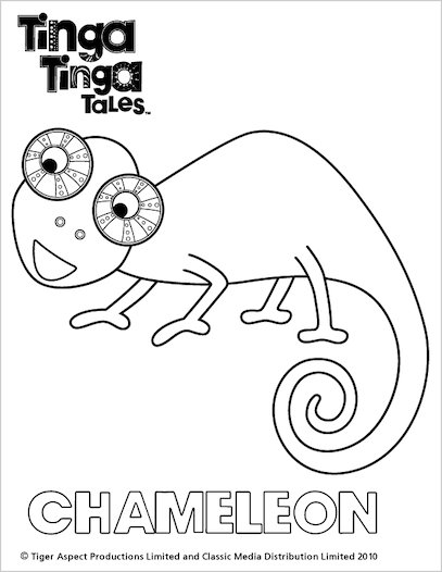 Tinga tinga colour chameleon scholastic shop for Tinga tinga coloring pages