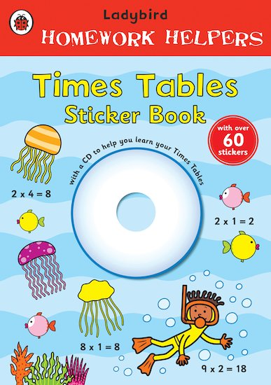 Ladybird Homework Helpers: Times Tables Sticker Book
