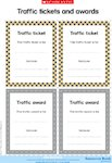 Traffic tickets and awards (1 page)