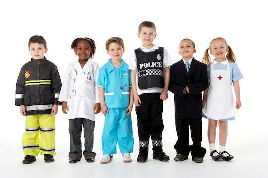 Children dressed up as 'people who help us'