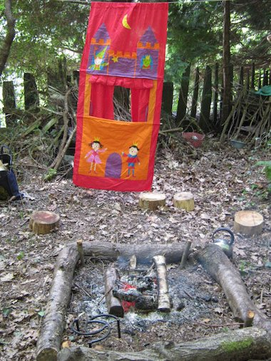 Forest puppet show