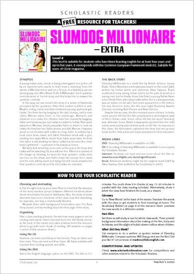 Slumdog Millionaire: Resource Sheets & Answers