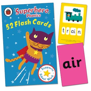 Superhero Phonics Flashcards