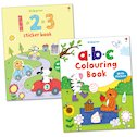 ABC and 123 Colouring and Sticker Pack