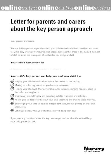Key person letter