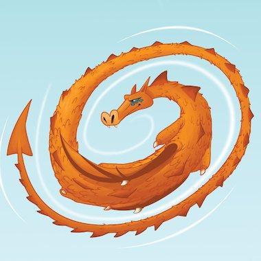 A dragon © Russ Daff/Beehive Illustration