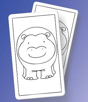 Animal cards illustrations © Cathy Hughes