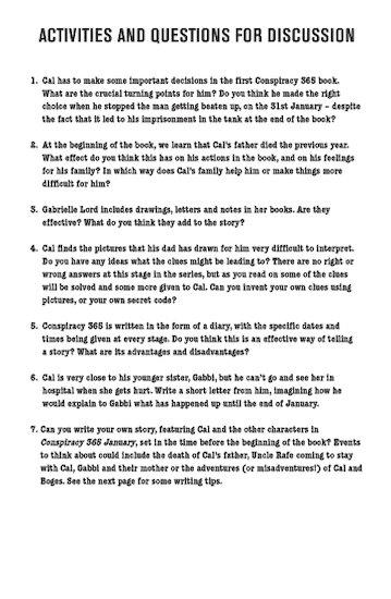 Conspiracy 365 Reading Notes