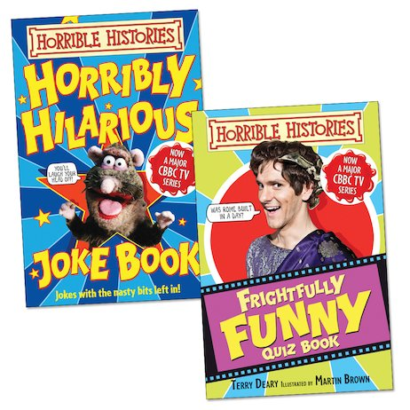 Horrible Histories Quiz and Joke Book Pair