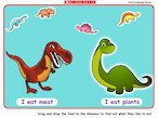 Feed the dinosaurs - interactive
