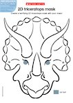 2D triceratops mask (1 page)