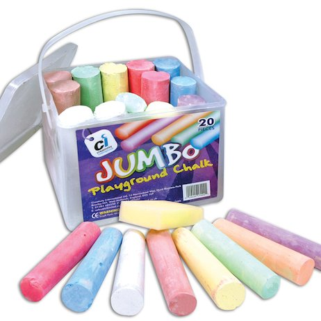 Jumbo Playground Chalk Bucket (20 Pieces)