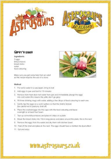 More Astrosaurs Recipes