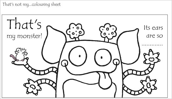 That's Not My ... Colouring Sheet