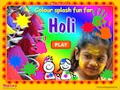 Colour splash fun for Holi