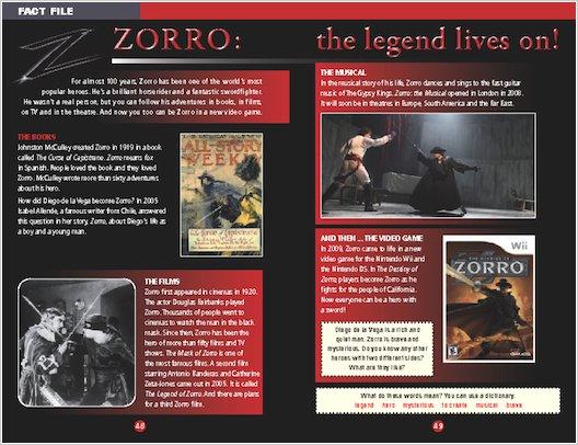 The Mask of Zorro: Sample Fact File