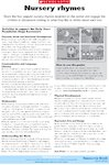 Nursery rhymes - activities (1 page)