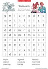 Myths and legends wordsearch