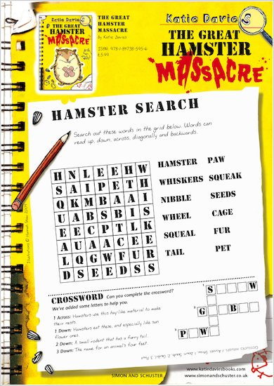 Great Hamster Massacre Wordsearch
