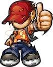 Funky kid illustration