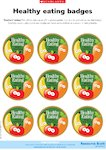 Healthy eating - reward badges (1 page)