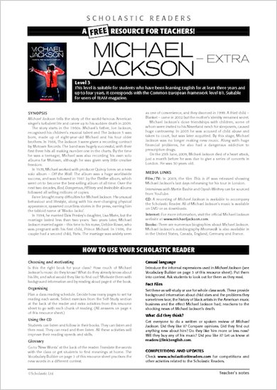 Michael Jackson Biography: Resource Sheets & Answers