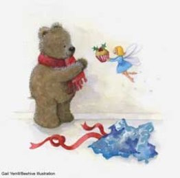 Teddy bear and fairy illustration