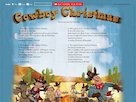 Cowboy Christmas audio poster