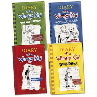 Diary of a Wimpy Kid Pack x 4
