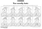 Ten woolly hats (1 page)