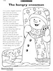 The hungry snowman (1 page)