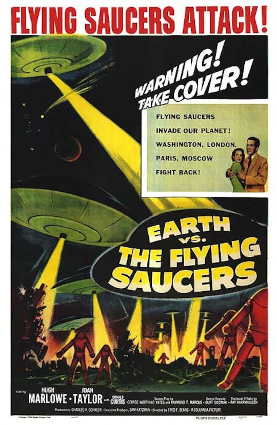 'Earth vs the Flying Saucers' movie poster