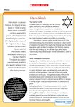 Hanukkah - information sheet (1 page)