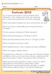 Festivals - comprehension quiz (1 page)